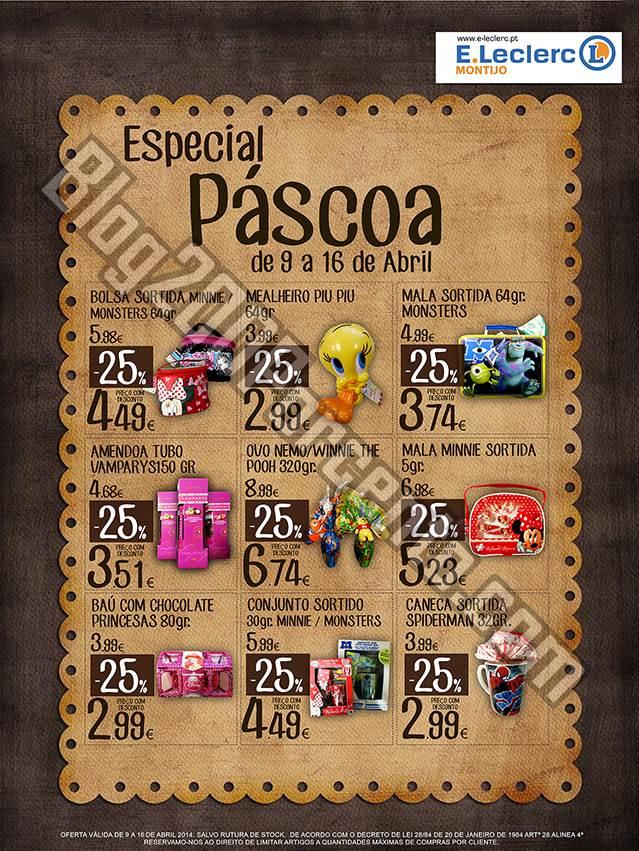 Promoções | E-LECLERC | Montijo de 9 a 16 abril - Especial Pascoa