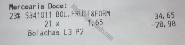 Resultado da acumulação CONTINENTE Fruit & Form