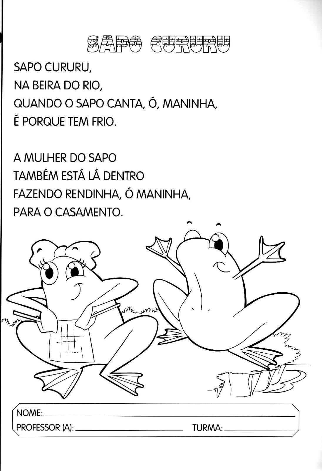 Fabuloso Atividades Com Canções Para o 1º Período - O Mundo Das Crianças YE09
