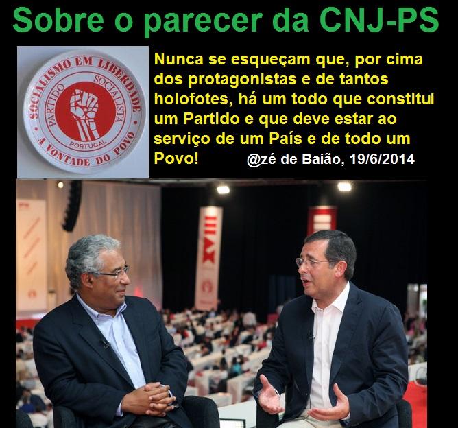 Parecer da Comissão Nacional de Jurisdição do Partido Socialista, José Seguro e António Costa