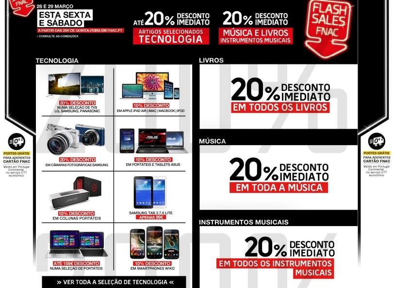Flash Sales | FNAC | os Produtos com desconto