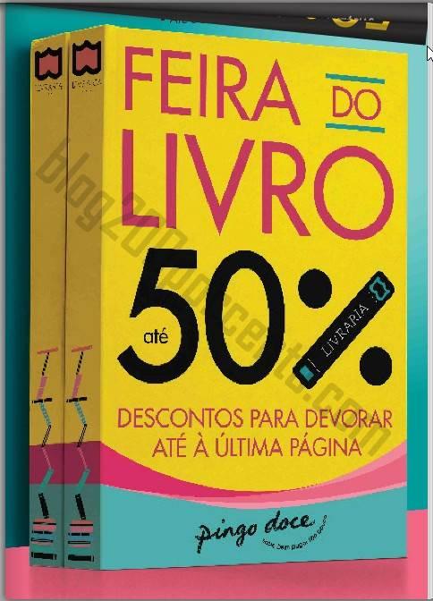 Novo Folheto PINGO DOCE - Feira do livro - de 24 julho a 6 agosto