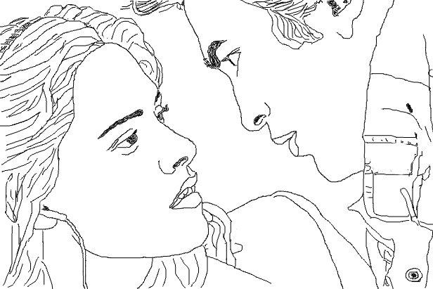 Twilight Bella e Edward Desenhos