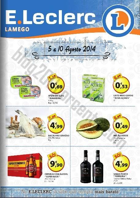Antevisão Folheto E-LECLERC Promoções Lamego de 5 a 10 agosto