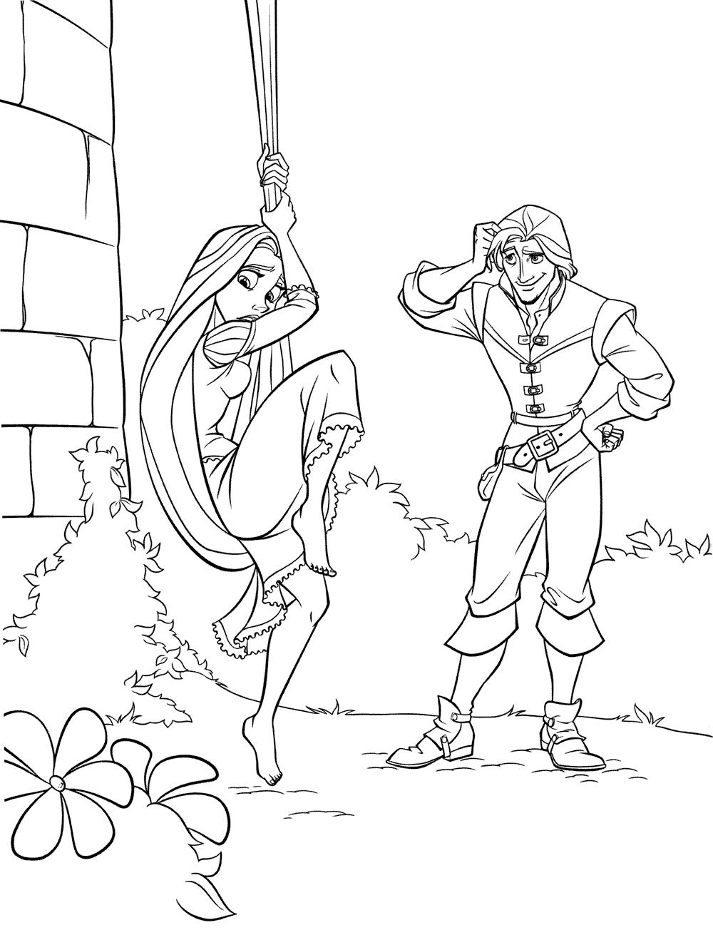 Pinta A Rapunzel 6 A Magia Da Disney