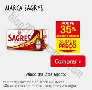 35% de desconto CONTINENTE 2 agosto - Marca Sagres