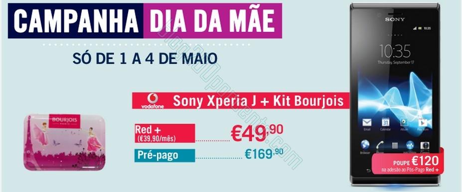 Campanha Dia da Mãe | PHONE HOUSE | Sony  Xperia J + Kit Bourjois, até 4 maio