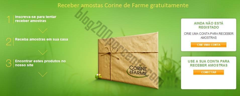 Pedir Amostras / Vales CORINE DE FARME