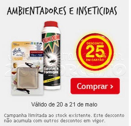 25% de desconto CONTINENTE dias 20 e 21 maio - Insecticidas