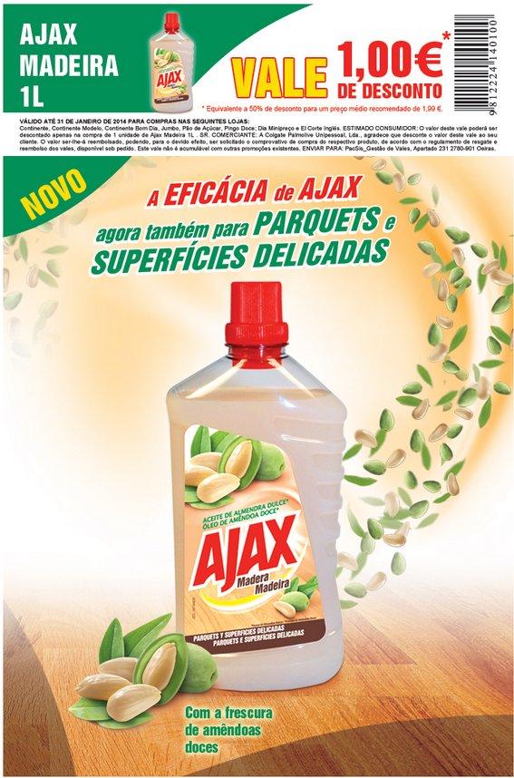 Vale para impressão | AJAX MADEIRA | 1€ de desconto