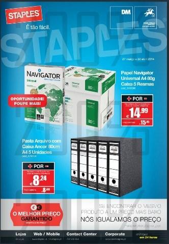 Novo folheto | STAPLES | Economato de 27 março a 22 abril