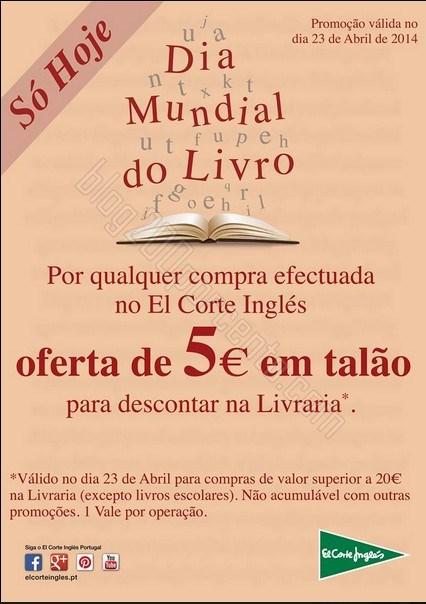 Oferta 5€ em livros | EL CORTE INGLÉS | só hoje 23 abril