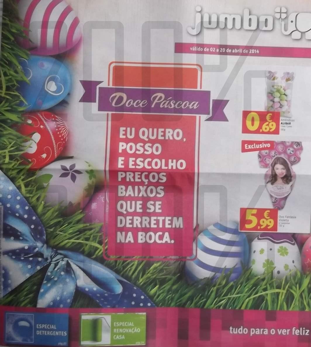 Antevisão folheto Pascoa do JUMBO de 2 a 20 abril