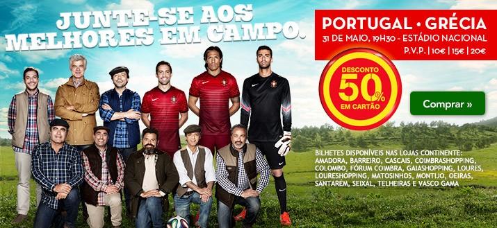50% de desconto | CONTINENTE | Portugal x Grécia