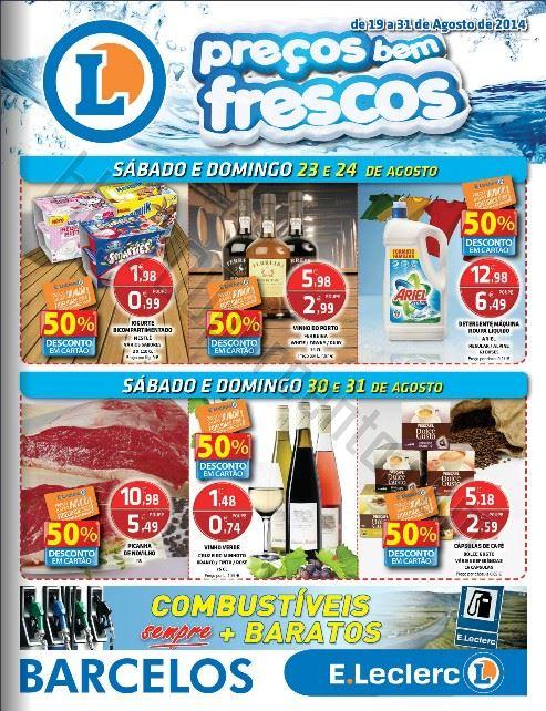 Antevisão Folheto E-LECLERC Barcelos Promoções de 19 a 31 agosto