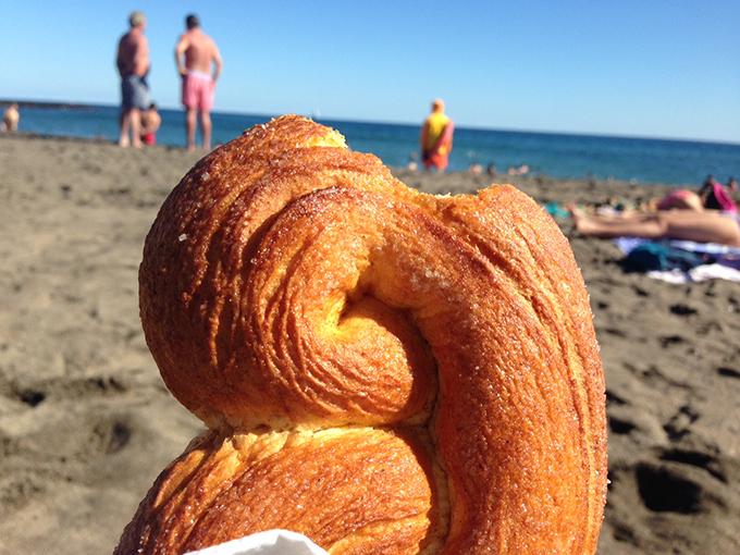 canela na praia
