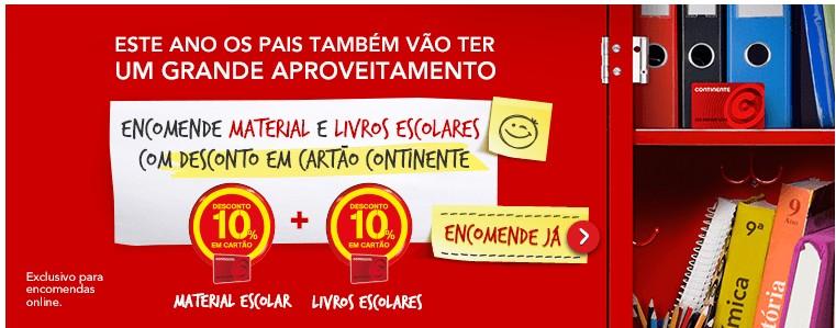 Promoção Livros CONTINENTE 10% de desconto