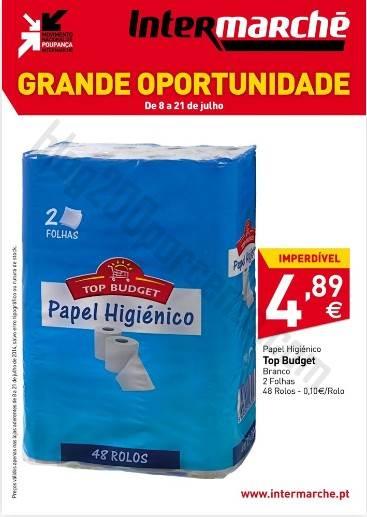 Promoção INTERMARCHÉ Papel higiénico até 21 julho