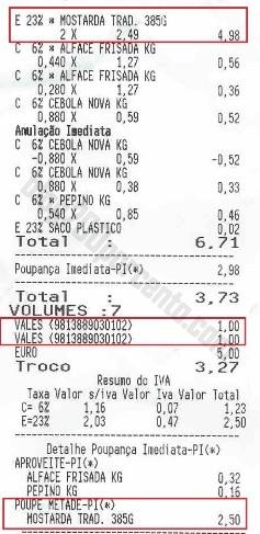 Resultado da acumulação PINGO DOCE - Calvé