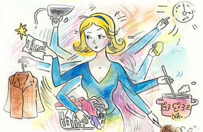 Mulher multitasking