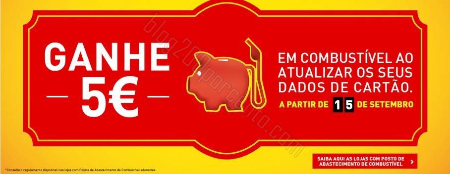 Ganhe 5€ em combustiveis INTERMARCHÉ a partir de 15 setembro