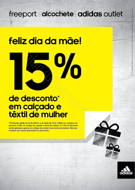 15% de desconto | FREEPORT | adidas de 24 abril a 4 maio