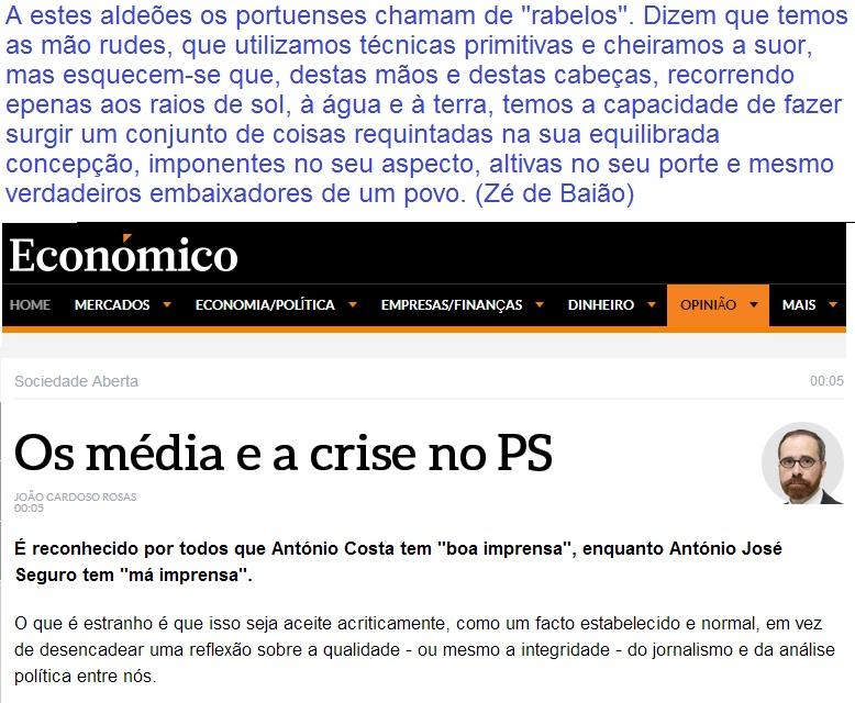 PS Partido Socialista jornalismo educação cívica e política João Cardoso Rosas Opinião Jornal Económico