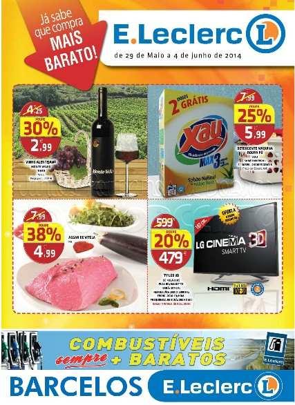 Antevisão folheto E-LECLERC Barcelos de 29 maio a 4 junho