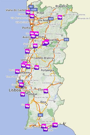mapa de portugal continental praias SAPO Mapas mapa de portugal continental praias