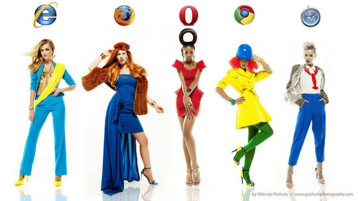 mulheres browsers navegadores moda internet modelos