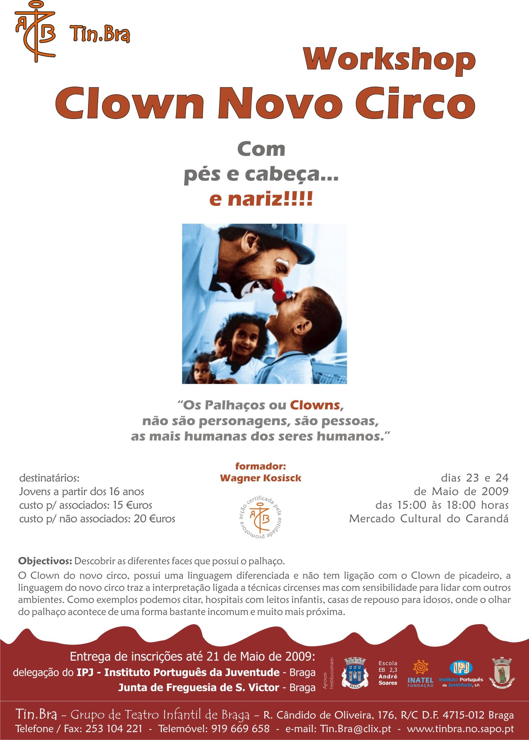 Workshop Clown Novo Circo