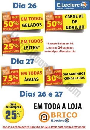 Antevisão Promoções E-LECLERC Lordelo dias 26 e 27 julho