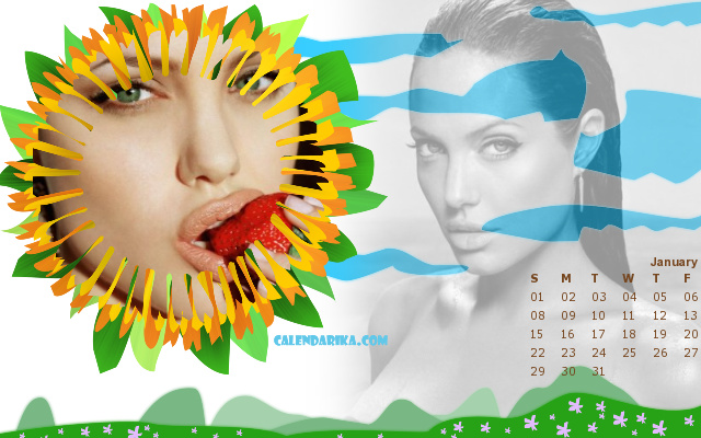 calendário 2012 angelina jolie