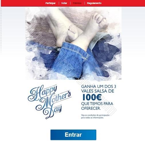 300€ em vales | SALSA | Passatempo dia da Mãe, até 4 maio