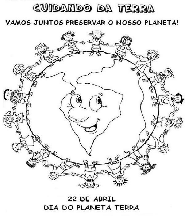 Desenho Para Colorir Dia 22 De Abril Dia Mundial Da Terra