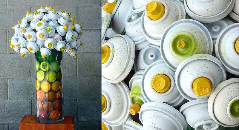 flores latas tinta spray