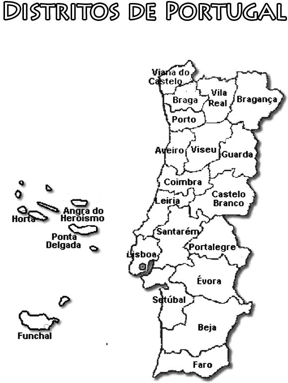 mapa de portugal a preto e branco Brinquedos de Papel mapa de portugal a preto e branco