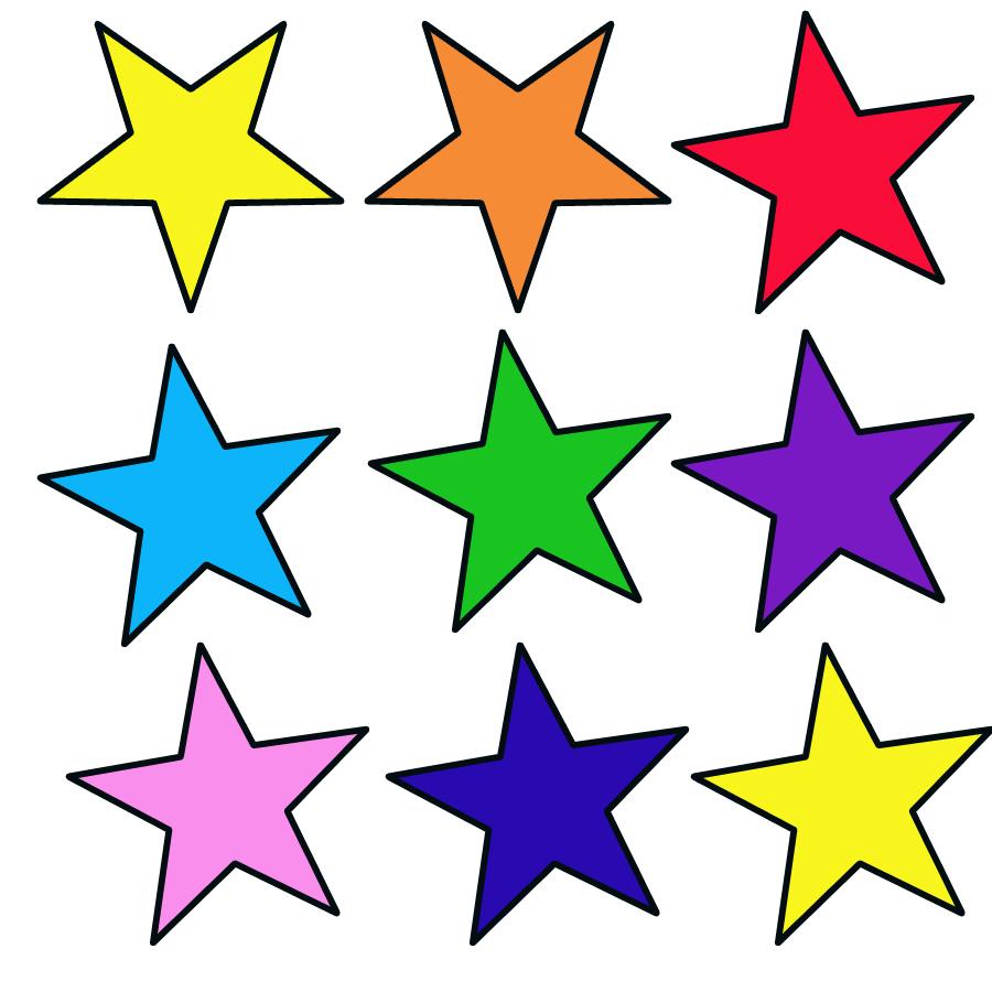Estrelas Coloridas Para Recortar Decorações De Natal