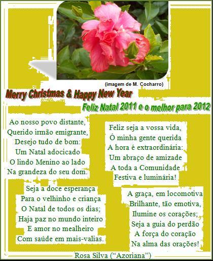 A >> Feliz Natal - Merry Christmas - Azoriana - terceirense das rimas