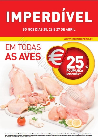 25% de desconto | INTERMARCHÉ | Carne de Aves, de 25 a 27 abril