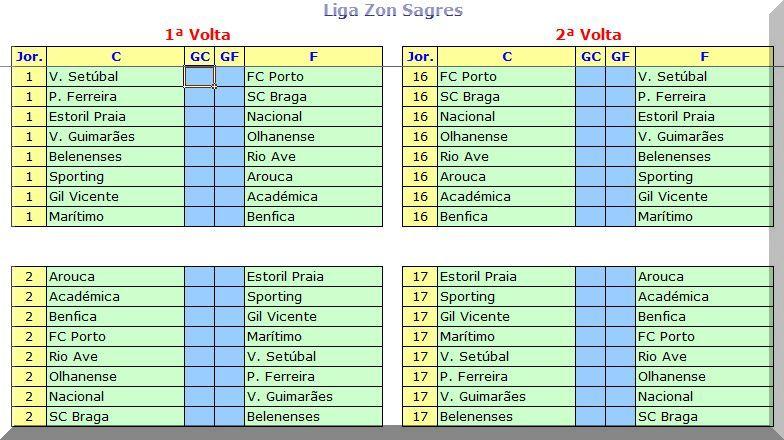 calendário liga zon sagres 2013 2014 jogos futebol grátis excel