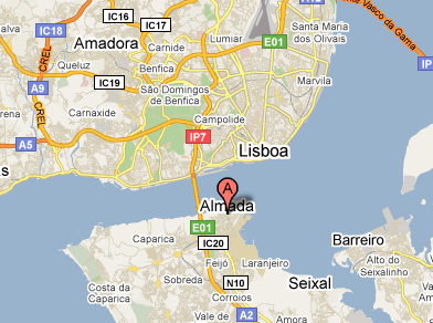 mapa de portugal almada Fotos de Portugal   Almada   O Fotos de Portugal mapa de portugal almada