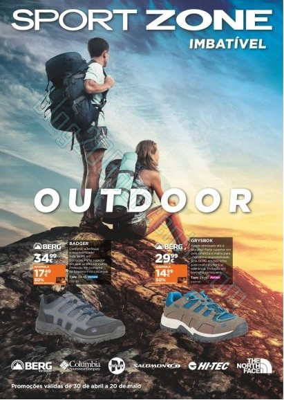 Novo folheto | SPORT ZONE | até 20 maio - Outdoor