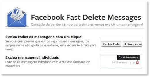 apagar mensagens facebook