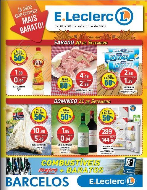 Antevisão Folheto E-LECLERC Barcelos Promoções de 16 a 28 setembro