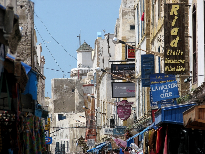 rua de comércio