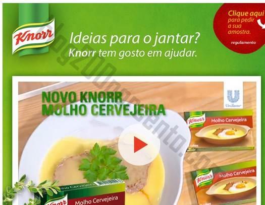 Nova amostra KNORR para pedir - Molho Cervejeira
