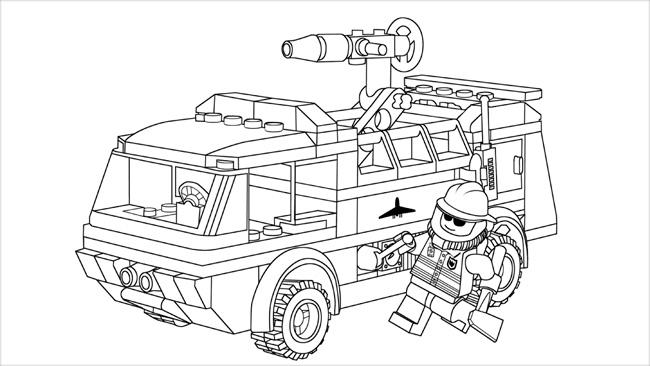 desenhos para colorir lego city e imprimir brinquedos de papel