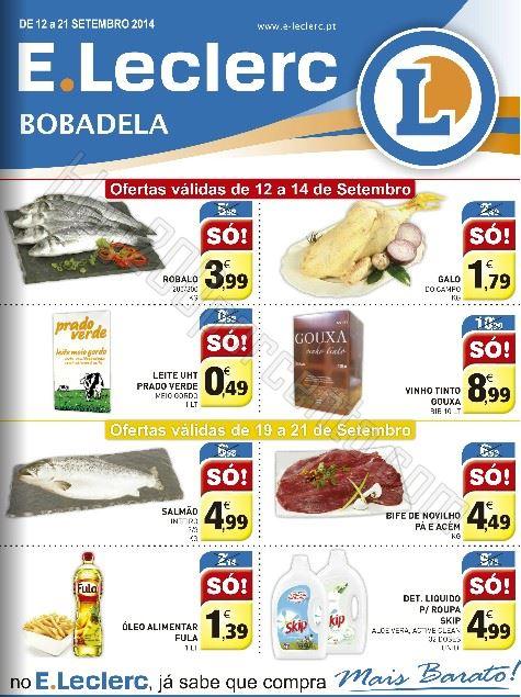 Novo Folheto E-LECLERC Bobadela Promoções de 12 a 21 setembro