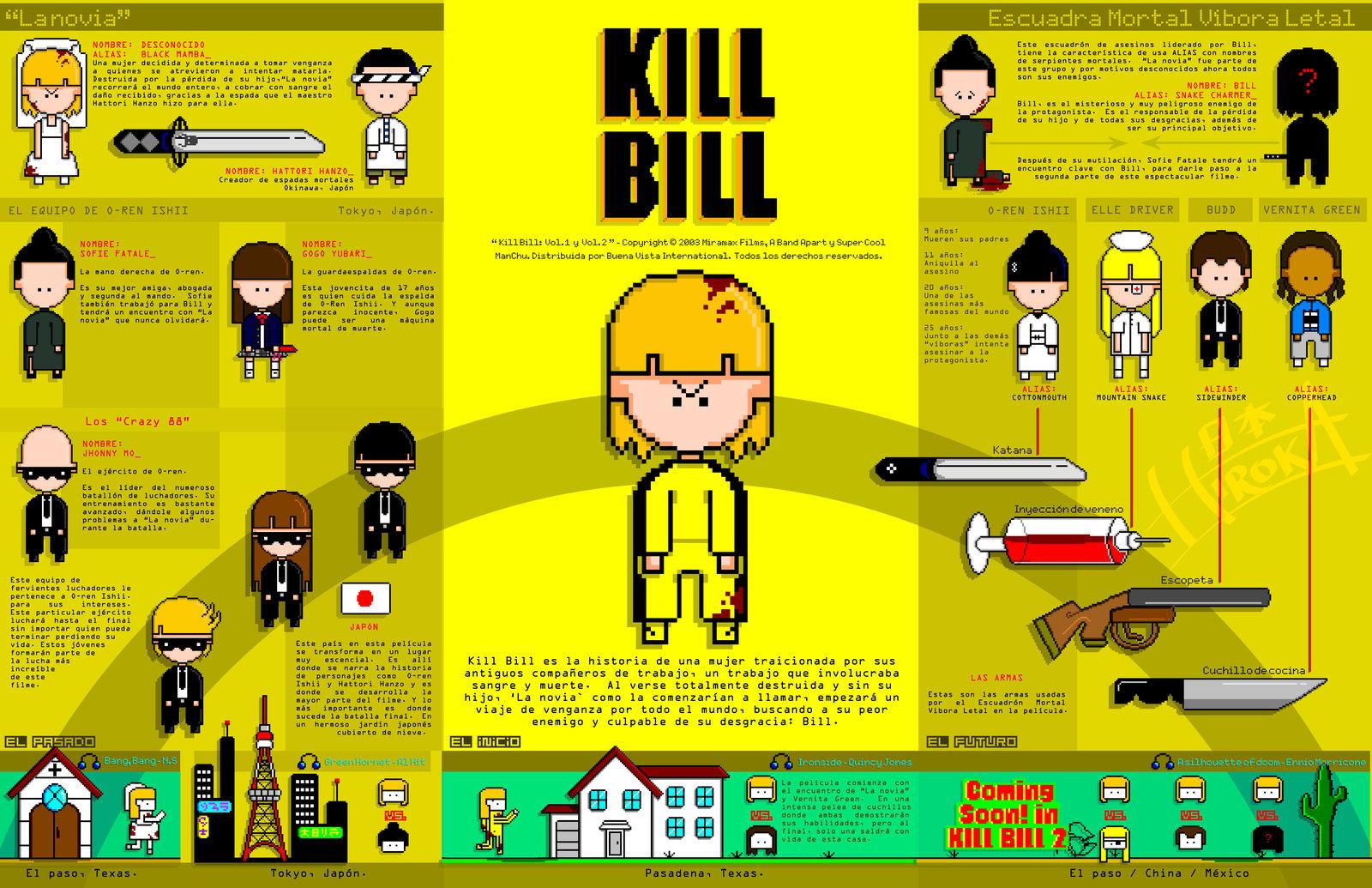 kill bill pixel art